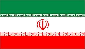 volontaire humanitaire en iran drapeau iran