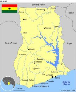volontariat humanitaire au ghana carte