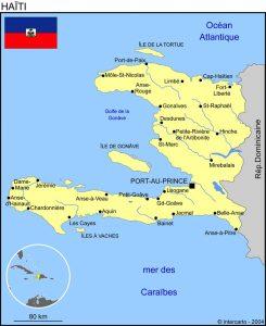 mission humanitaire et volontariat humanitaire à haiti carte