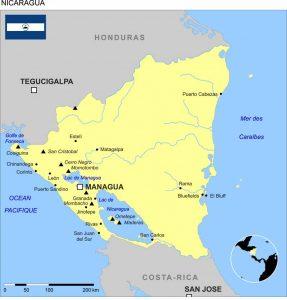 mission humanitaire et volontariat humanitaire au nicaragua carte