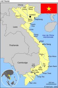 mission humanitaire et volontariat humanitaire au vietnam carte