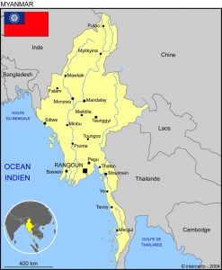 mission humanitaire et volontariat humanitaire en birmanie carte